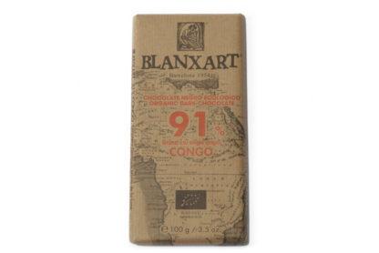 THEEmuze BLANXART 91% donkere chocolade CONGO